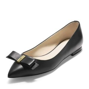 NEW Cole Haan Elsie Bow Leather Pointed Flats 8